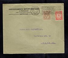 1923 Amsterdam Netherlands Advertising Cover to Prague Czechoslovakia