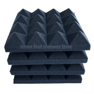 24PCS 250x250x50mm Studio Acoustic Foam Soundproof 16 Pyramid free shipping