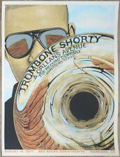 2017 Trombone Shorty - Red Rocks Silkscreen Concert Poster by Neal Williams