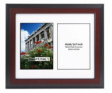 CreativePF 2 Opening Multi 5x7 Mahogany Picture Frame w/ 10x12 White Collage Mat
