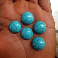 AAA Quality 5 Piece Natural Turquoise 16 MM Round Loose Cabochon Gemstone #413