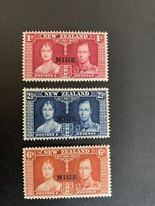 New Zealand Stamps Niue Overprint Mh