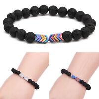 Fashion Arrow Lava Rock Chakra Stone Sacred Arrow Diffuser Healing Bracelets New