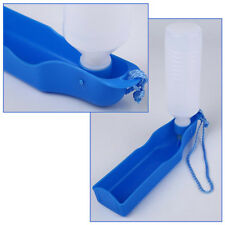 Distributeur d'Eau pour Chien Chat Boisson Bouteille Buveur 500ml Portable Bleu