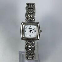 Brighton Womens Santa Rosa Quartz Toggle Bracelet Silver Tone Analog Wristwatch
