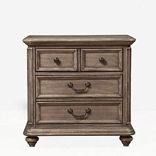 Alpine Furniture Melbourne 2 Drawer Nightstand, French Truffle, 1200-02 NEW