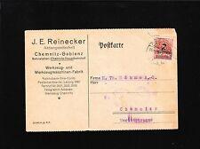 Germany Inflation Era J Reinecker Machine Tools Chemnitz Perfin 2million 6y