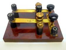 More details for vintage nivoc double contact key telegraph key morse code key (a)