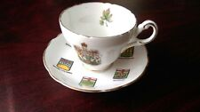 Recency Bone China England Canadian Coat of Arms and Territories Tea Cup, Saucer