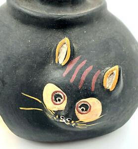 Besondere handgemachte Katze aus Keramik Kerzenständer Peru