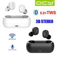 QCY T1C TWS Bluetooth 5.0 Mini Earbuds True Wireless Stereo Music Earphones Mic