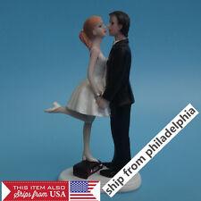 Wedding Cake Topper Couple Figurine Romantic Love Bride Groom funny C101