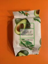 REVELE - AVOCADO AND OLIVE LEAF 30 COUNT MAKEUP REMOVER WIPES 30 per PACKAGE