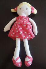 doudou poupée blonde robe rouge OBAIBI