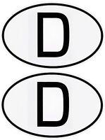 2 x D-Schild Deutschland D Aufkleber zwei Stück á 72 x 51 mm FasCalFolie Sticker