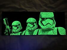 Stormtroopers Glow In The Dark Painting Art By Aaron Goodwin 1/1 Size 20x8