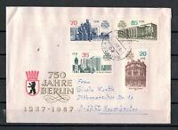 """DDR, FDC MiNr. 3071 - 3074 """"750 J. Berlin""""Bautzen nach Neumünster 03.03.1987"""