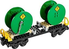 LEGO Train Cable Drum Reel Wagon Railway Carriage From Cargo City Set 60052 NEW