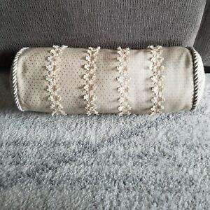 "Waterford Linens 6"" X 15"" Neckroll Cream Decorative Throw Pillow"