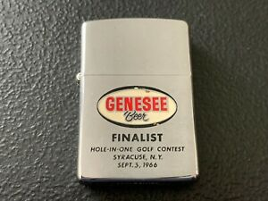 """Vintage 1966 GENESEE BEER """"FINALIST"""" HOLE - IN - ONE GOLF CONTEST ZIPPO Lighter"""