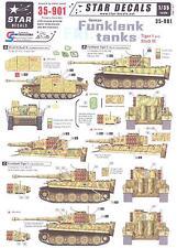 Star Decals 1/35 GERMAN FUNKLENK TANKS Tiger I & Sturmgeschutz III