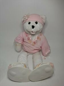 Chantilly Lane Breast Cancer Teddy Bear Musical Sings I Hope You Dance 2000