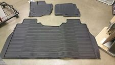 2015-2018 FORD F-150 CREW CAB TRAY FLOOR Mat BLACK Rubber All Weather 3-Pcs