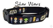 "Star Wars dog collar handmade adjustable buckle 1"" or 5/8"" wide or leash movie"