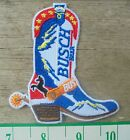 Busch Beer Cowboy Boot Style Retro iron-on Patch