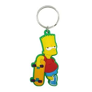 The Simpsons Soft Touch Bart Keychain Red