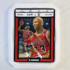 Michael Jordan Bradford Exchange Ticket To Greatness Plate 6 In Command w/ COA