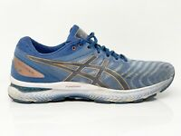 Asics Mens Gel Nimbus 22 1011A685 Gray Blue Running Shoes Lace Up Size 11 Wide