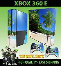 XBOX 360 e spiaggia tropicale PARADISE PALME BLU CIELO Adesivo sottile & 2