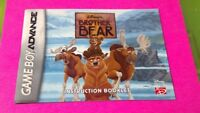 Brother Bear Disney - Nintendo Game Boy Advance Instruction MANUAL ONLY No Game