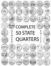 1999 - 2008 P Complete 50 State Quarters Set U.S. Mint Rolls Coins Philadelphia