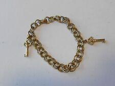 Coro Goldtone Key Charm Bracelet