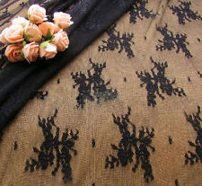"""French Stretch Floral Bridal Lace Fabric 55"""" Wide for Wedding Dress 0.5 Yard"""