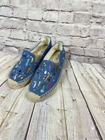 Anthropologie Soludos Women's Splatter Denim Paint Denim Espadrilles Sz 9 Artsy