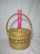 Charleston SC Sweet Grass Pine Needle Gullah Purse Basket Folk Art Primitives