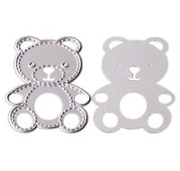 Brand New Teddy Bear Animal With Stitched Edge Metal Die Cutter