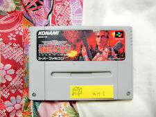 """Contra Spirits"" Super Famicom Japan Ver "" Nintendo snes/sfc NTSC-J #wake1"