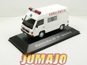 SBR16 1/43 IXO DéAgostini Véhicules Brésil Mercedes-Benz MB 180 Ambulance