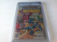 INHUMANS 11 CGC 9.4 WHITE PAGES BLACK BOLT MEDUSA AL MILGROM MARVEL COMICS