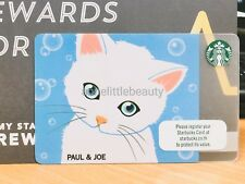Starbucks Card Thailand Collection Paul&Joe Blue Cat PIN intact with Sleeve
