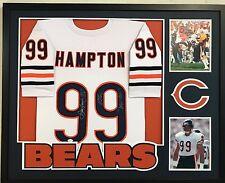 9461cd27cd2 FRAMED DAN HAMPTON AUTOGRAPHED SIGNED INSCRIBED CHICAGO BEARS JERSEY JSA COA