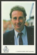 JONATHAN AGNEW (BBC COMMENTATOR) TCCB OFFICIAL CRICKET POSTCARD No. 4