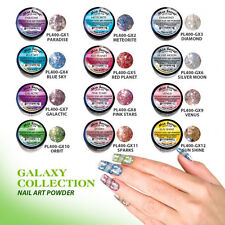 Mia Secret  ACRYLIC POWDER  GALAXY  COLLECTION 12 pc nail art+1GLITTER