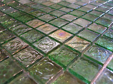 Glass mosaic Tiles Clear Mother of pearl Metal green 8mm shower bath kitchen TOP