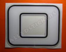 Pegatina Numero 0 3D Color Blanco Tamaño 100mm