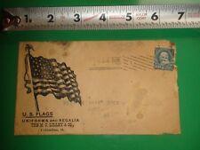 JB307 Antq 1897 Envelope Cover Ad U.S. Flags Uniforms & Regalia MC Lilley & Co